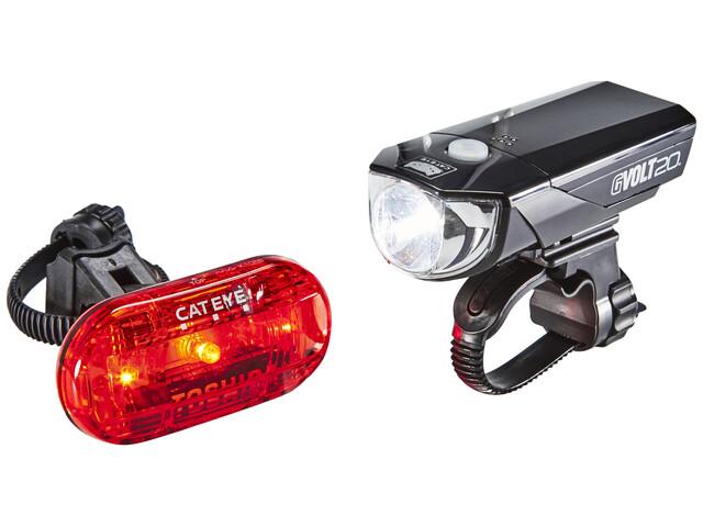 CatEye GVOLT20/OMNI3G Beleuchtungsset EL350G/LD135G schwarz